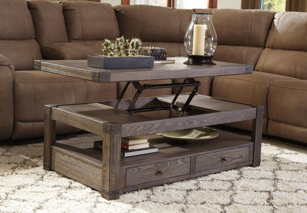 WAREHOUSE PRICE: $499.99 | MONTHLY PAYMENT $10 O.A.C LIFT TOP COCKTAIL TABLE