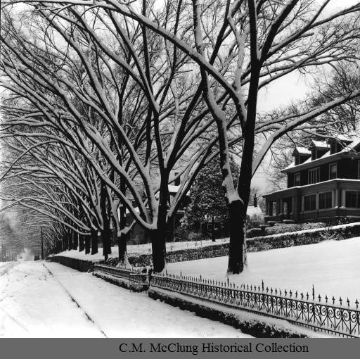 Early 20th century view of Armstrong Ave, courtesty of the McClung Historical Collection