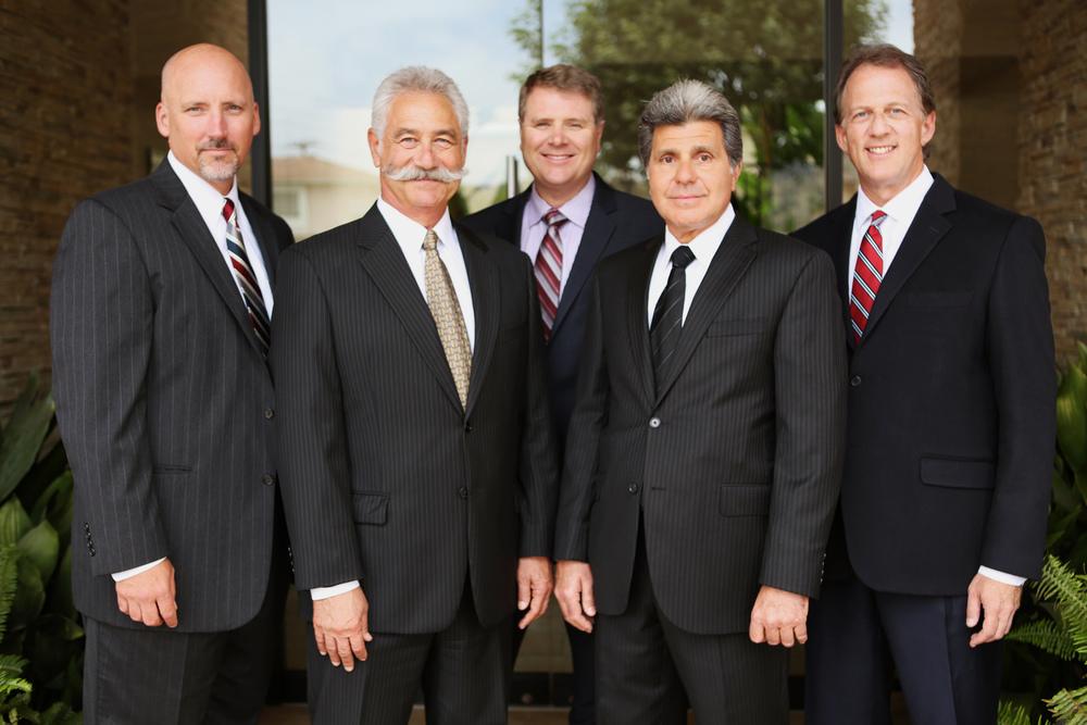 Don E. Lanson (left), Ronald B. Levine, Matthew R. Eccles, Sam C. Manfredi and Mark F. Miller