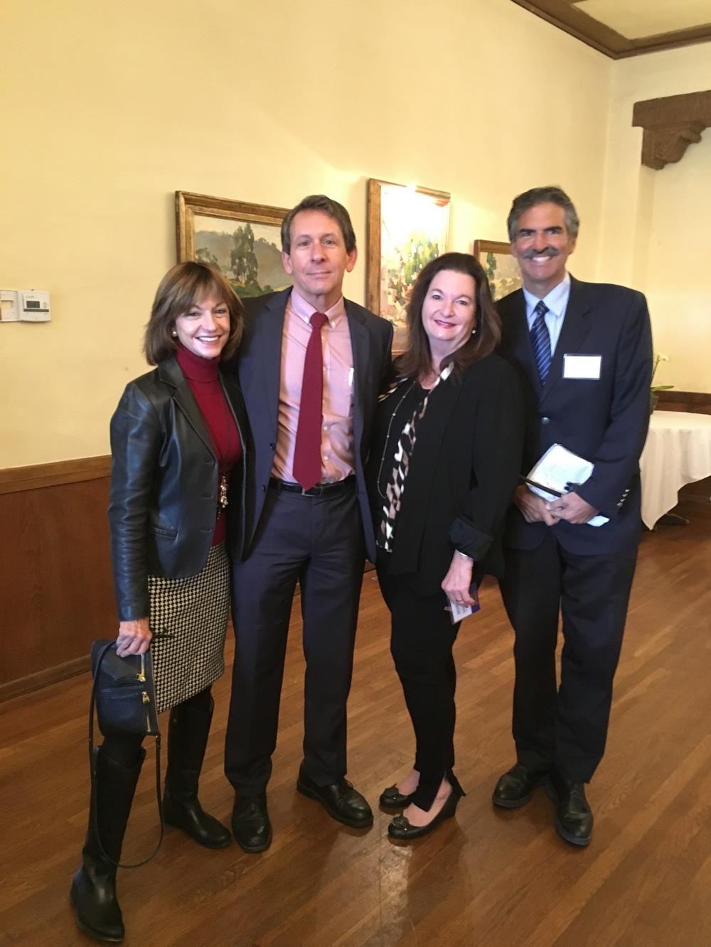 From left to right: Judy Rattray, First American Title; Mark Schniepp, Presenter; Jennifer Goddard Combs, Moderator; and John Palmenteri, TV/News Reporter.