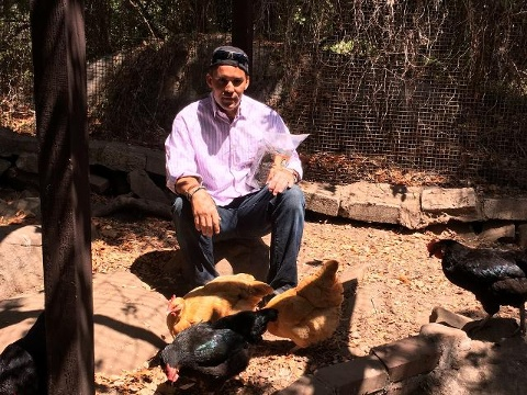 Dion Cherot credits a Poultry Therapy Program for helping him recover from serious psychiatric symptoms, especially depression and anxiety.