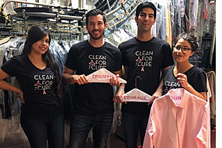 Helping the Pink Hanger Program at Ablitt's, from left: Mari Vasquez, Sean Nguyen, Danny Arroyo and Ashley Gomez. (Ablitt's photo)