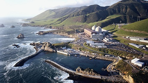 Diablo Canyon Nuclear Plant near San Luis Obispo County's Avila Beach is the last operating nuclear plant on the West Coast. (Photo courtesy of PG&E )