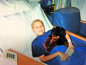At 9 years old, Colby Chapman battled leukemia with the support of his family and the Teddy Bear Cancer Foundation. Photo contributed