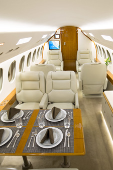 New 7X Falcon business jet has seating for 14 passengers. (CI Jets)