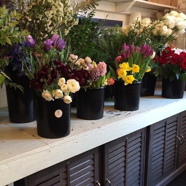 Fresh flowers at Gardenia Organic