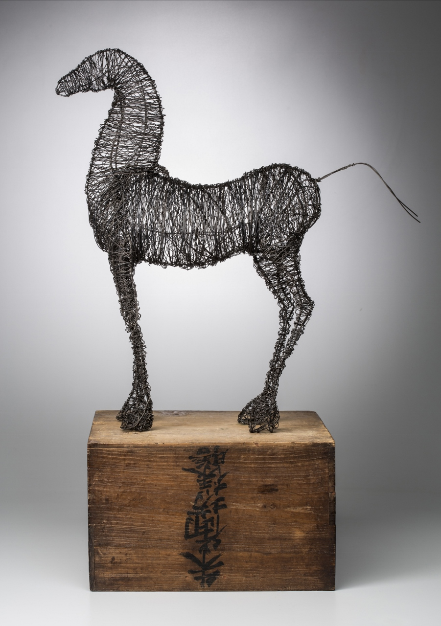 Horse on Wooden Box