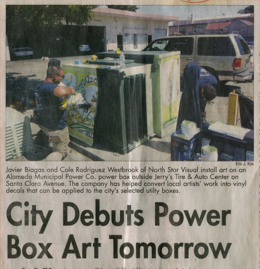 Utility box- Newspaper