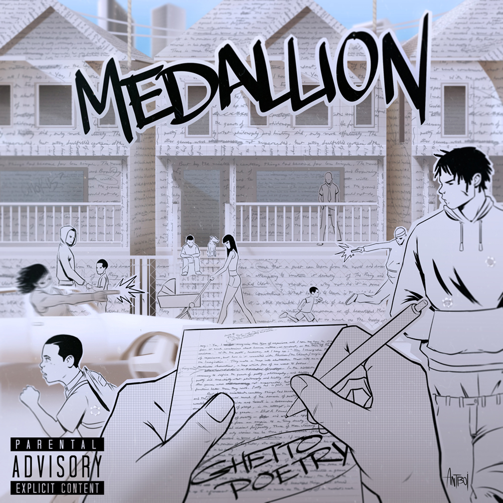 Medallion - 'Ghetto Poetry' Album Cover
