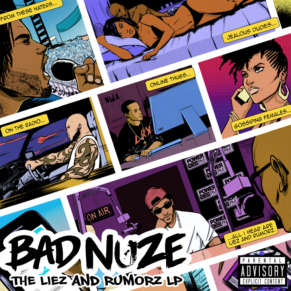Bad Nuze - 'The Liez & Rumorz' LP Cover