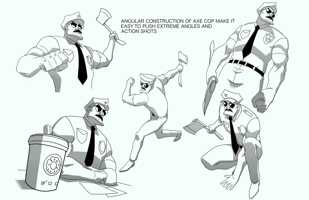 Axe Cop Pose Sheet