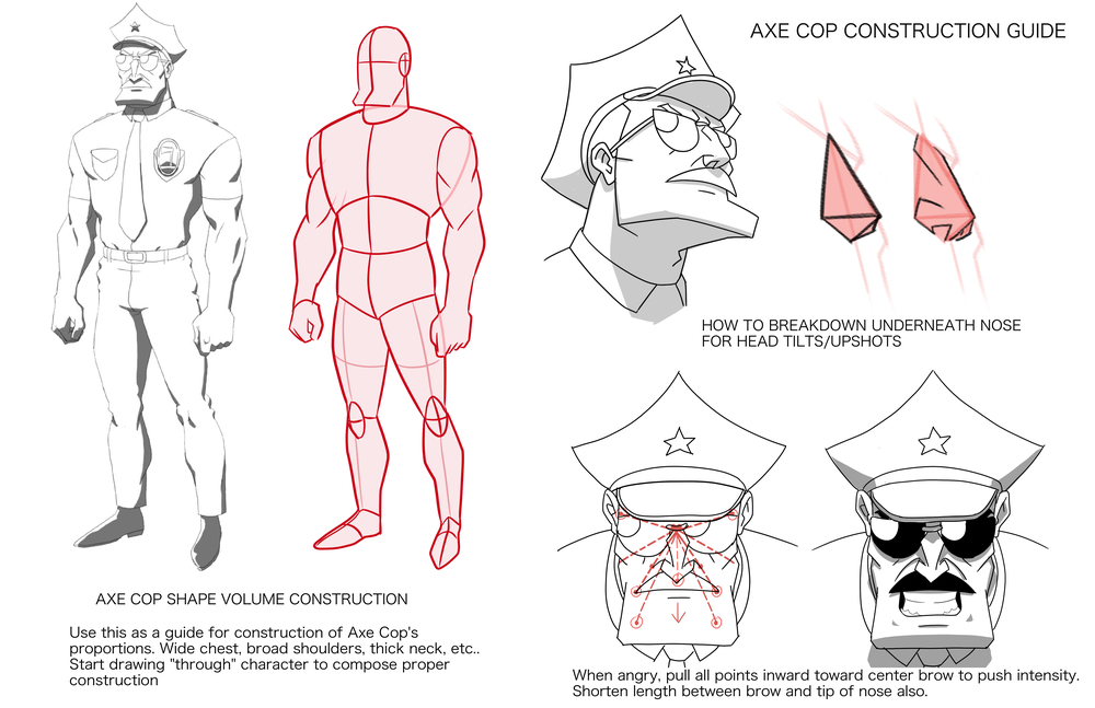 Axe Cop Construction Sheet