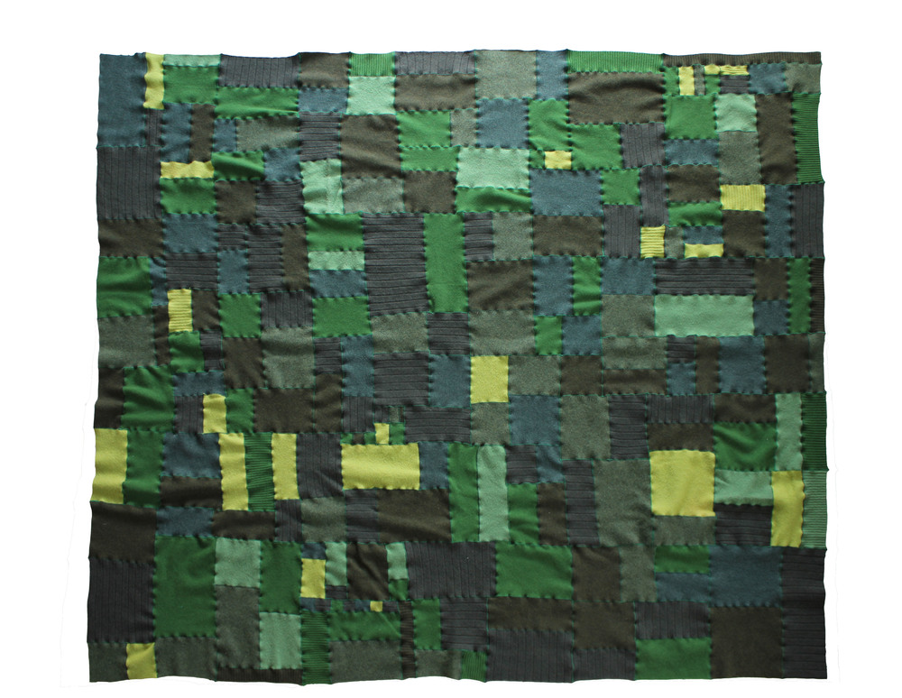 "no. 9, reclaimed wool, 2014, 82""x74"""