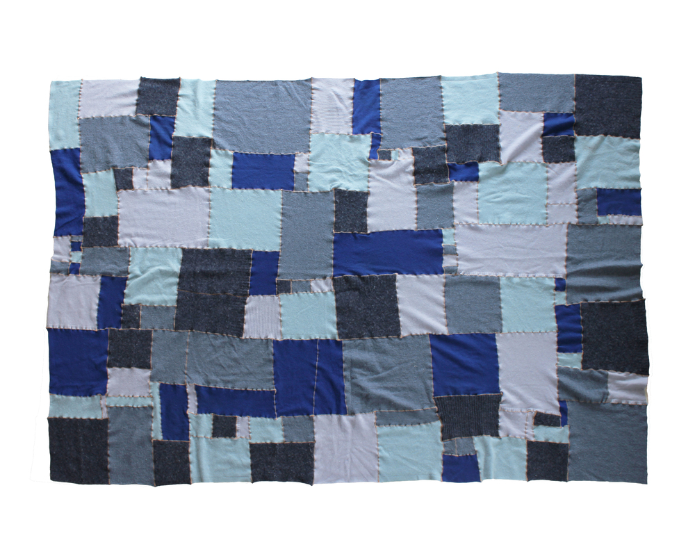 "no. 4, reclaimed wool, cashmere, 2009, 80""x60"""