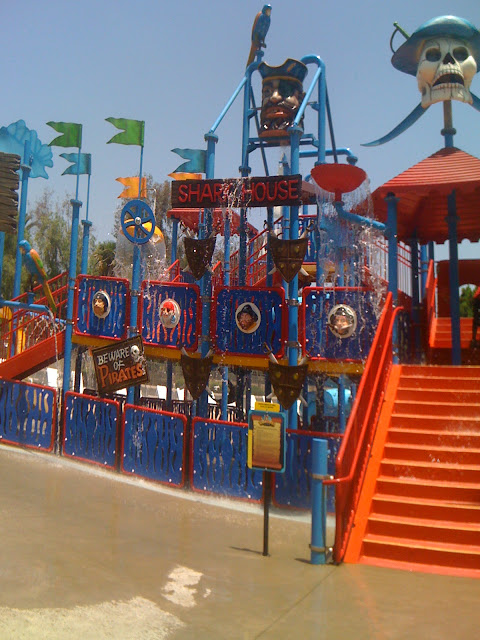 It has 5 water slides,