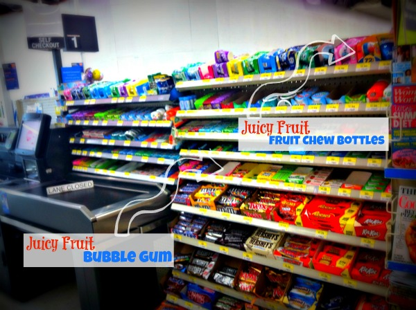 Walmart Check Out Lines is where you will find the Juicy Fruit Gum!