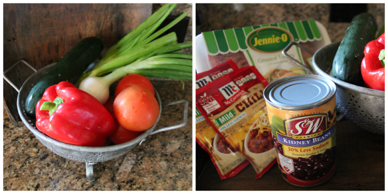 Fresh Veggies & All The rest of the fixings you will need for this Yummy Chili