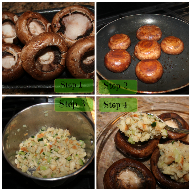 So Cal Pocket memories Stuffed Portobello Mushrooms