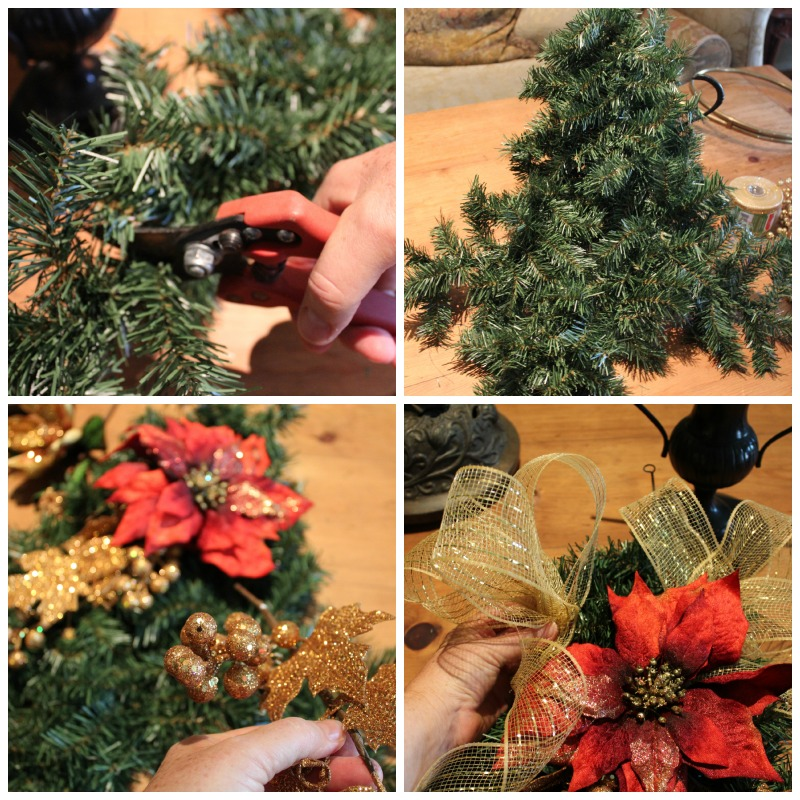 Cut garland to desired length, layer to desired fullness,add decorations & finish w/Bow.