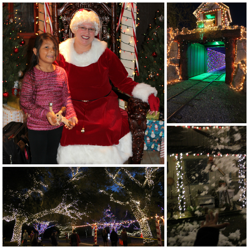 Spending time with Mrs. C, the Train Tunnel all lit up, the amazing tree lights & Let it Snow!