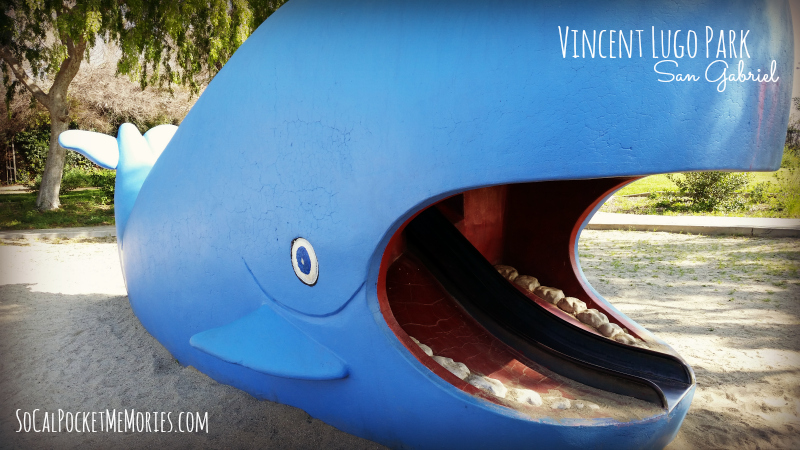 Visit Vincent Lugo Park in San Gabriel and your kids will slide inside a whale's mouth!