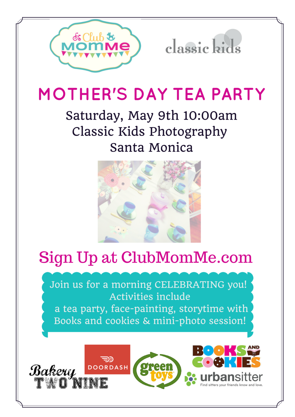 ClubMomMe Mothers Day Tea Party