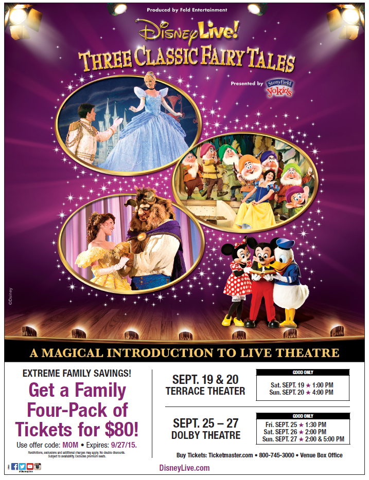 Disney Live Three Classic Fairy Tales  Discount Code