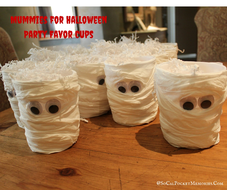 Mummy Party Favors for Halloween