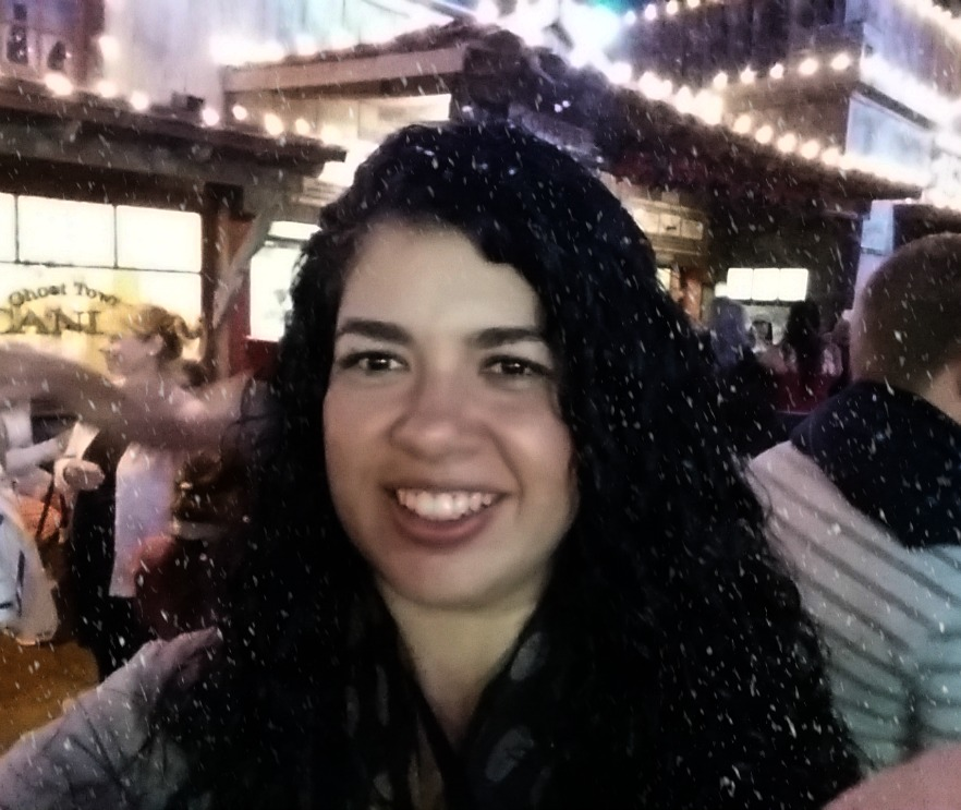 Snow Falling at Knotts