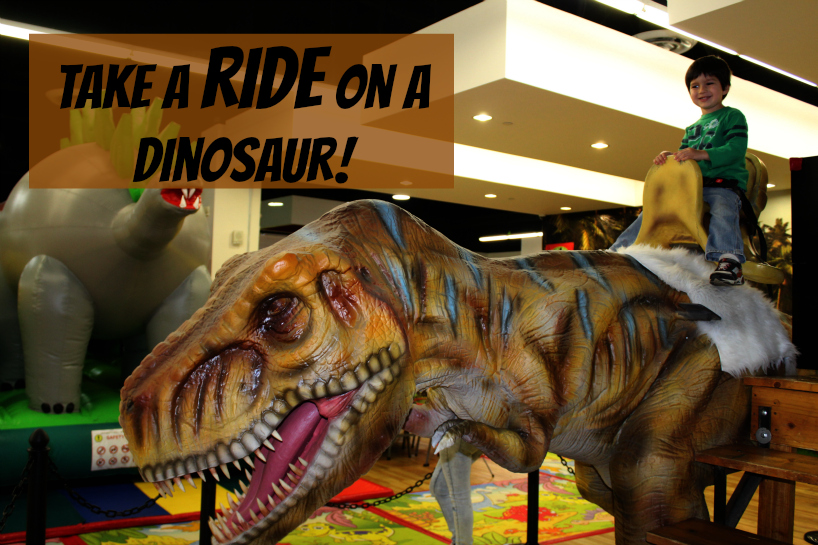 Ride a dinosaur at West Covina Mall