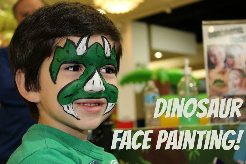 Dinosaur Face Painting at West Covina Mall