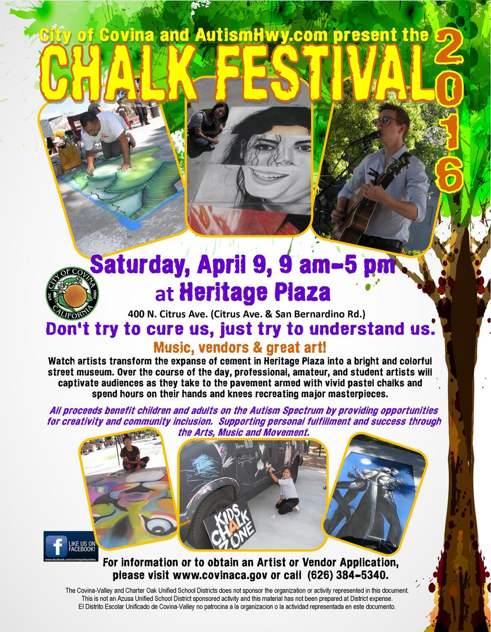 Chalk art festival for Autism Covina