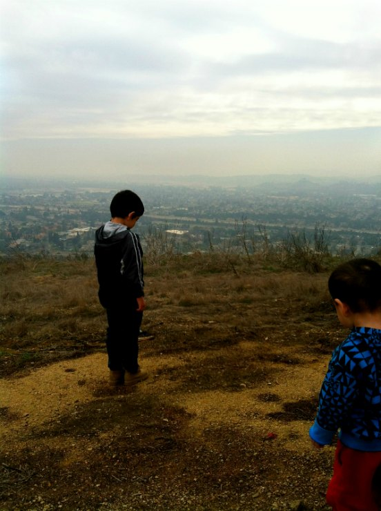 Hiking with the family at Horsethief Canyon Trail in San Dimas