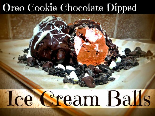 Oreo Cookie Ice Cream Balls