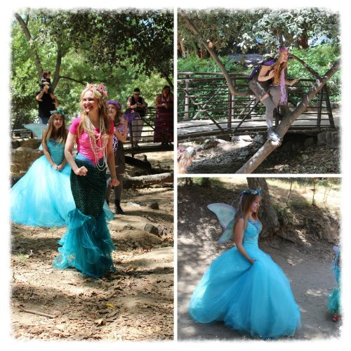 The Queen Mermaid and her faery friends Stardust and Hope, they were all elated to see us!