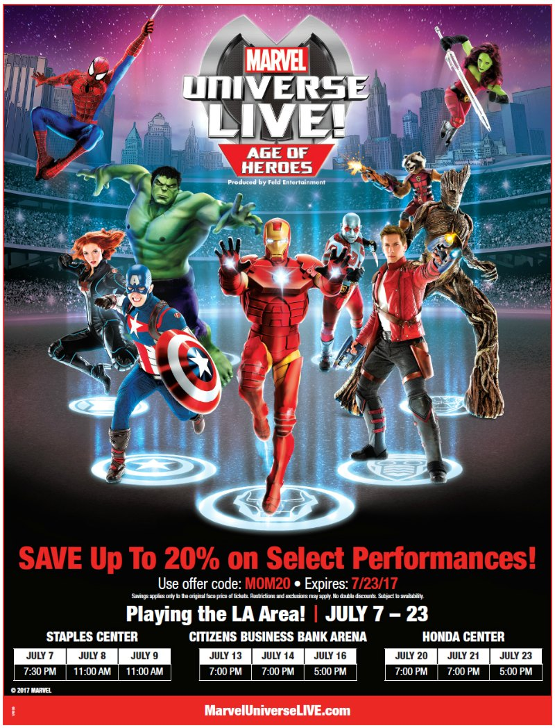 Marvel Live SoCal discount Code