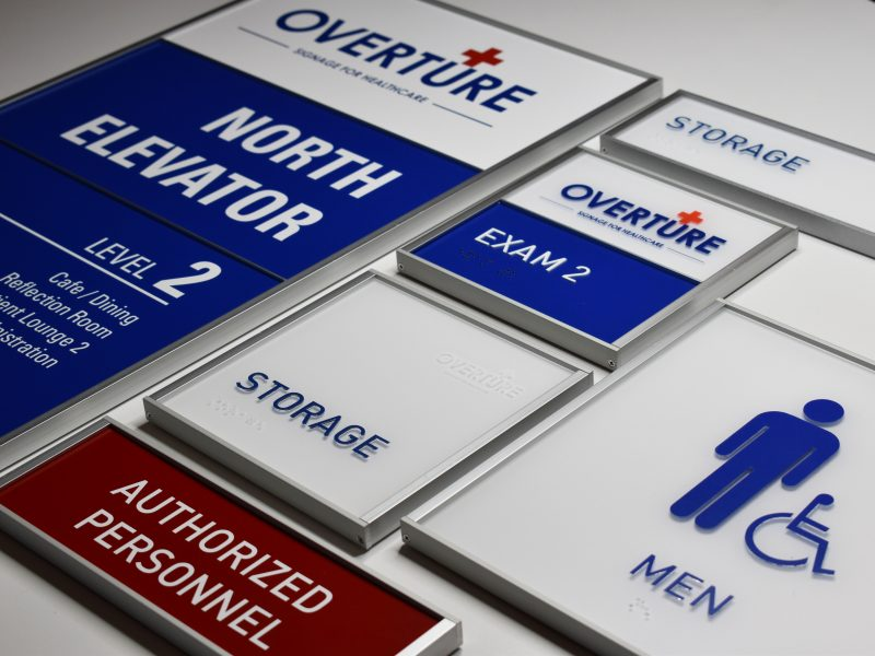 FEATURING:  Overture   Interior Sign System for Healthcare   Learn more