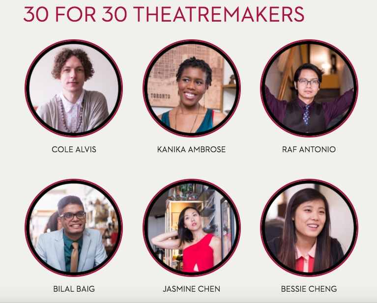 Cahoots 30 for 30 Featured Theatremakers