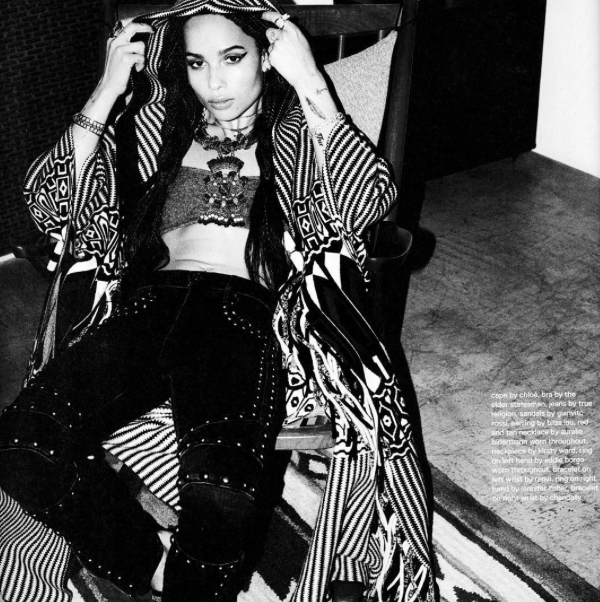 ZOE KRAVITZ x RENVI, for NYLON