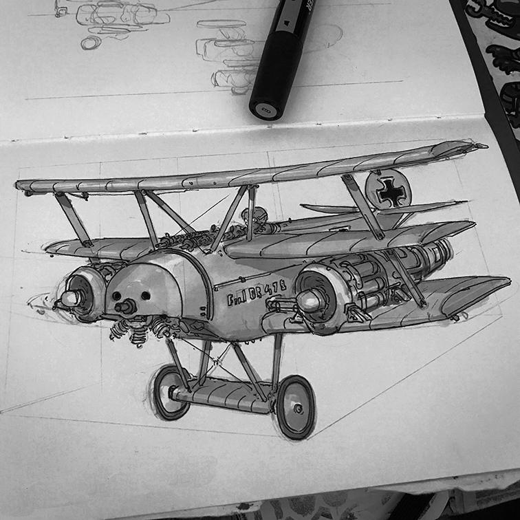 ww1 jet triplane concept.