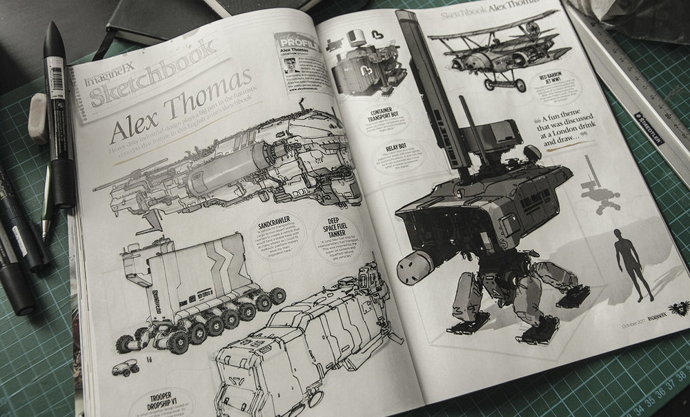 Imaginefx featured sketchbook. In issue 153 concept artist special
