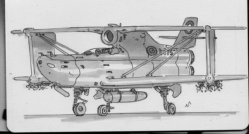 biplane jet.