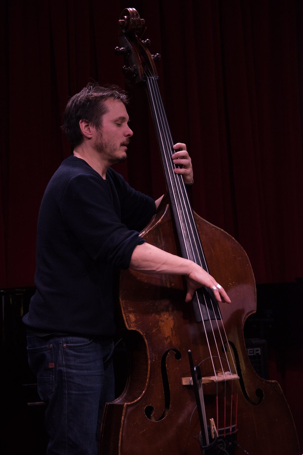 Trevor Dunn at the New School Jazz - Glass Box Theatre, January 15.