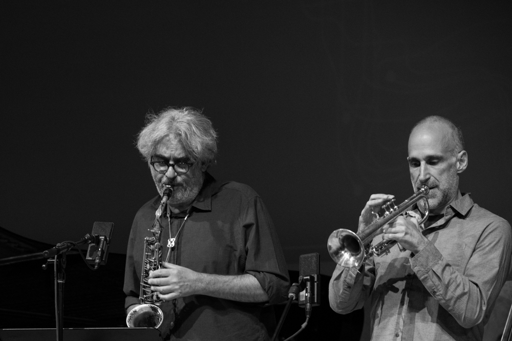 Tim Berne (saxophone) and Ralph Alessi (trumpet) performing at New School Tishman Auditorium - ECM Records Stage, January 16.