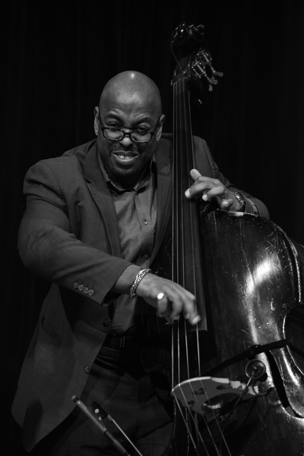 Christian McBride performing at New School Auditorium, January 15.