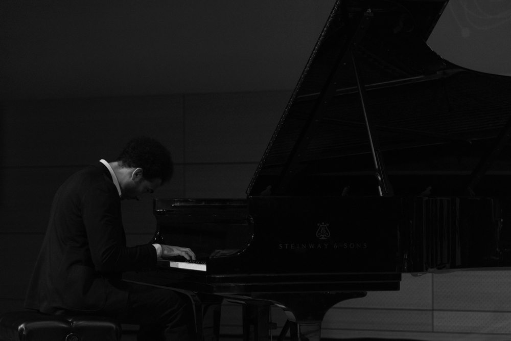 David Virelles performing at New School Tishman Auditorium - ECM Records Stage, January 15.