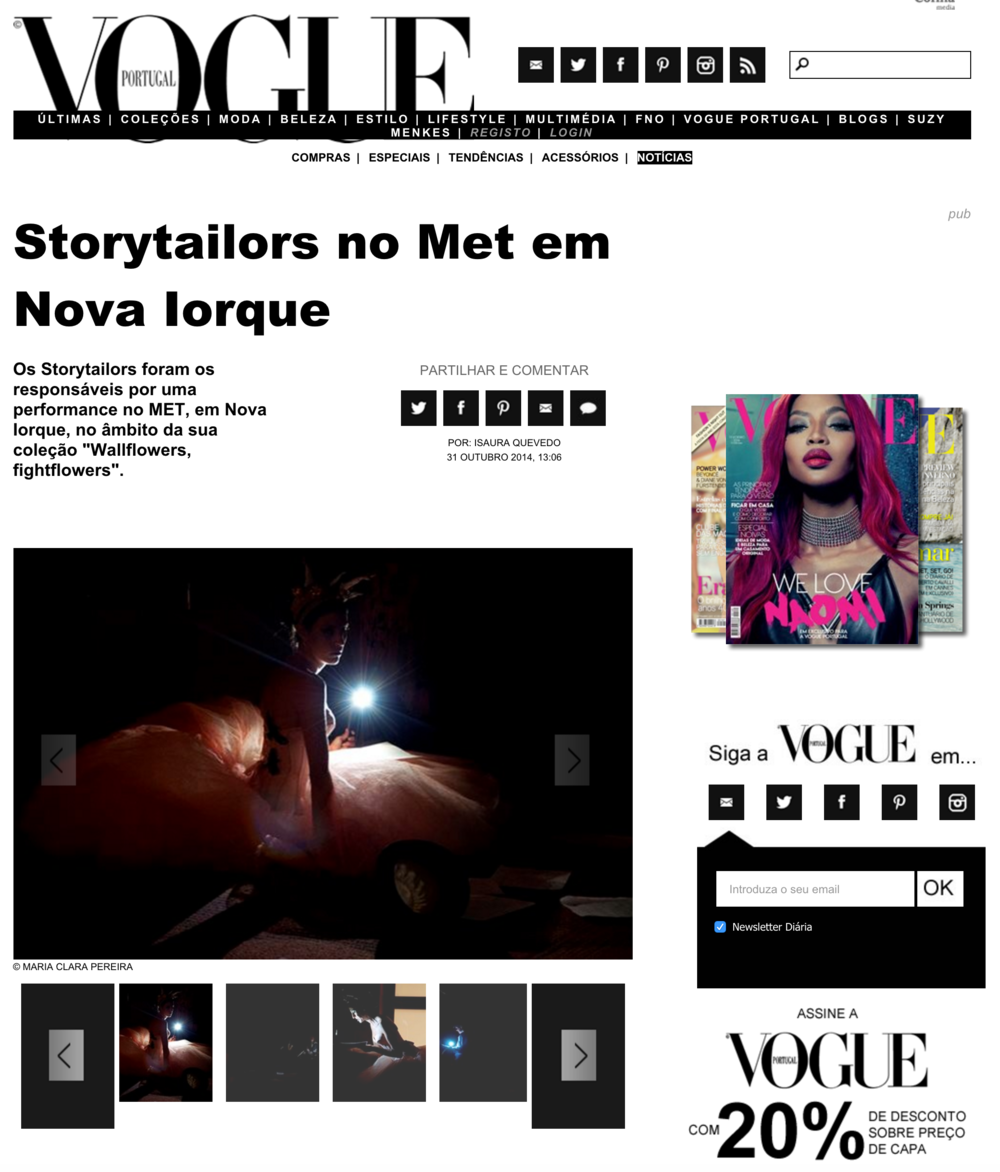 Storytailors at the MET in NY, Vogue Portugal 2014