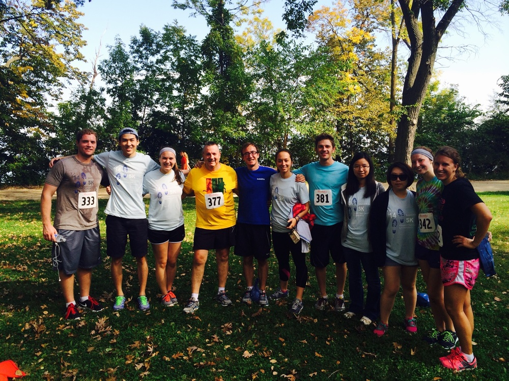BAP members and pledges volunteer and run in a local charity 5K.