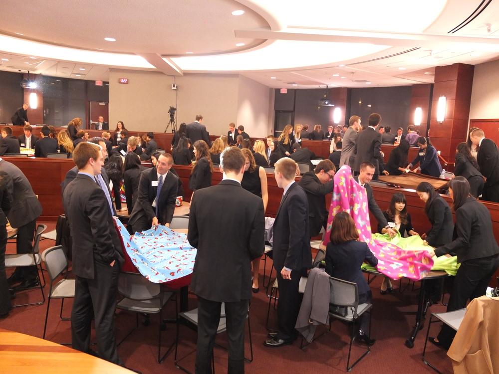 PwC Professional Meeting - Blanket Making Service Activity