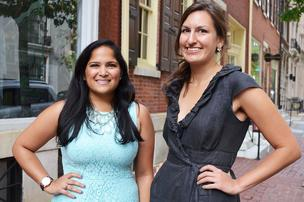 Tisha & Lauren (on a street you'll also see in the movie Trading Places). Image courtesy of Lauren Hertzler & Philadelphia Business Journal.